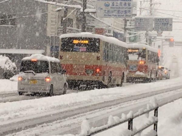 センター試験2日目は雪模様!